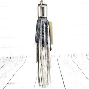 Michael Kors Black Leather Tassel Charm